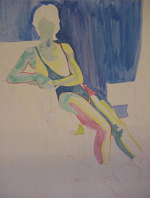 Painting - Male Dancer Resting by Joanne Claxton