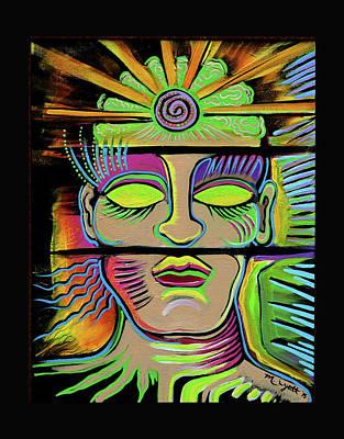 Brain Painting - Male Energy by Melissa Wyatt