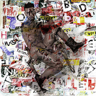 Male Digital Art - Male Figure by Mark Ashkenazi