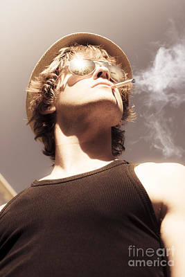 Hulk Photograph - Male Glamour Model Smoking Tobaco by Jorgo Photography - Wall Art Gallery