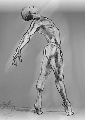 Male Art Print by H James Hoff