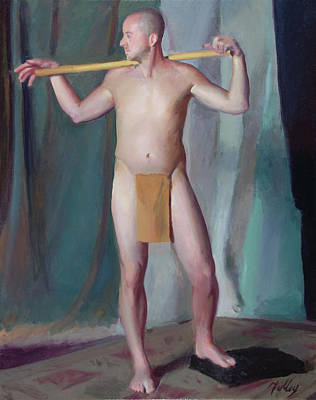 Wall Art - Painting - Male In Loincloth by John Folley