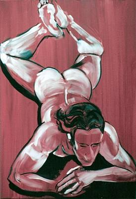 Painting - Male Lay On Front by Joanne Claxton