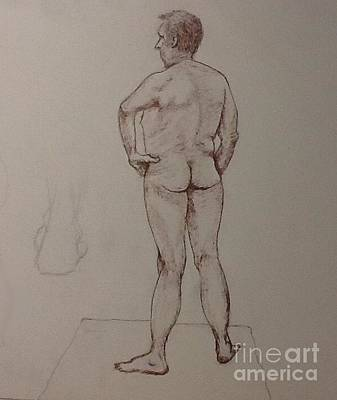 Male Life Drawing Art Print