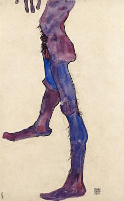 Torso Wall Art - Painting - Male Lower Torso by Egon Schiele