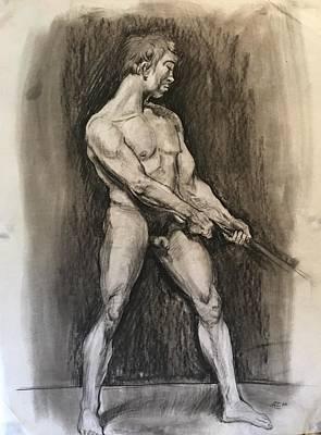 Male Nud Art Print by Alejandro Lopez-Tasso