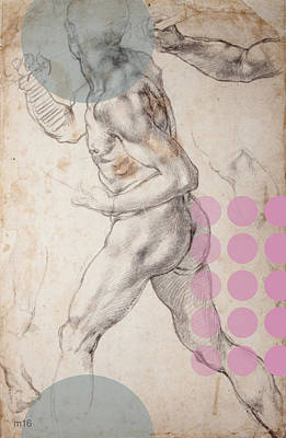 Digital Art - Male Nude 2 Revisited by D A Metrov