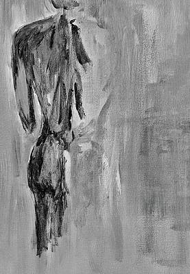 Naked Wall Art - Painting - Male Nude 3 by Julie Lueders