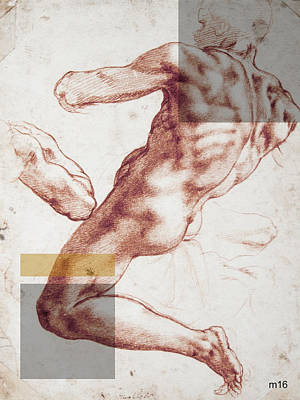 Digital Art - Male Nude 3 Revisited by D A Metrov