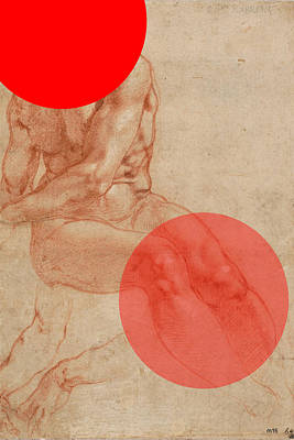 Digital Art - Male Nude 4 Revisited by D A Metrov