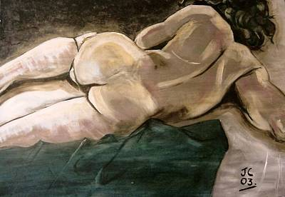 Painting - Male Nude by Joanne Claxton