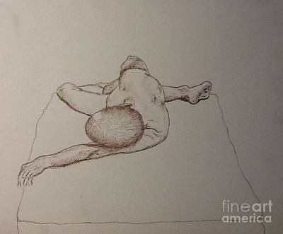 Male Nude Life Drawing Art Print
