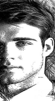Digital Art - Male Portrait by Rafael Salazar
