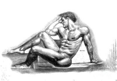 Digital Art - Male Pose 1405 by Rafael Salazar