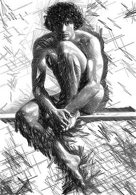Digital Art - Male Pose 1410 by Rafael Salazar
