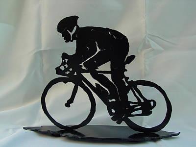 Male Road Racer Art Print by Steve Mudge