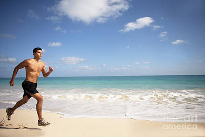 Barechested Photograph - Male Runner by Sri Maiava Rusden - Printscapes