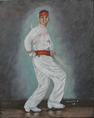 Painting - Male Spanish Dancer by Quwatha Valentine