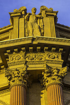 Rotunda Photograph - Male Statue Palace Of Fine Arts by Garry Gay