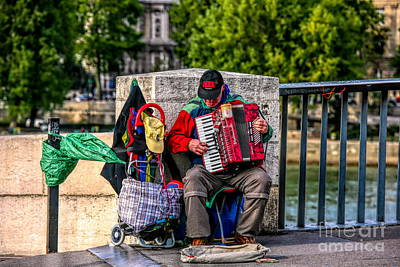 Photograph - Male Street Musician Accordion Player  by Chuck Kuhn