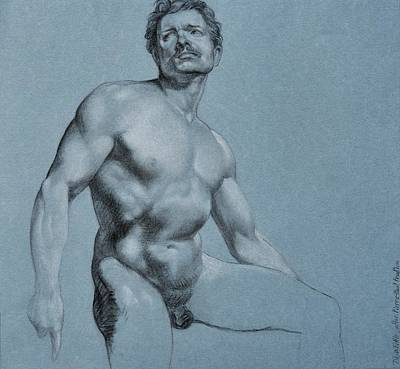 Drawing - Male Torso After Prud'hon by Dee Dee Whittle