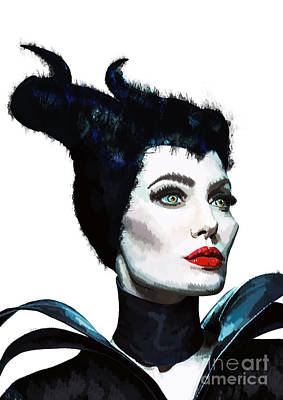 Maleficent - Angelina Jolie Art Print by Prar Kulasekara