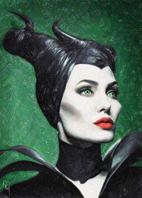 Maleficent Painting - Maleficent by Taylan Apukovska