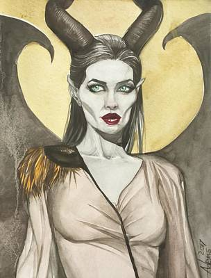 Painting - Maleficient by Jimmy Adams