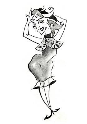 Schizzo Drawing - Malena Tango - Sexy Woman Pencil Drawing by Arte Venezia