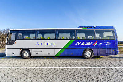 Photograph - Malev Airlines Bus by David Pyatt