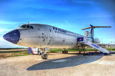 Malev Airlines Photograph - Malev Airlines Tupolev Tu-154 by David Pyatt