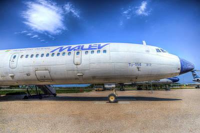 Photograph - Malev Tupolev Tu-154 Jet by David Pyatt