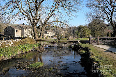 Photograph - Malham Beck Flowing Through Malham Village by Gavin Dronfield
