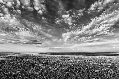 Photograph - Malheur Lake Basin Replenished Bw by Belinda Greb