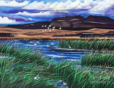 Painting - Malhuer Bird Refuge by Jennifer Lake