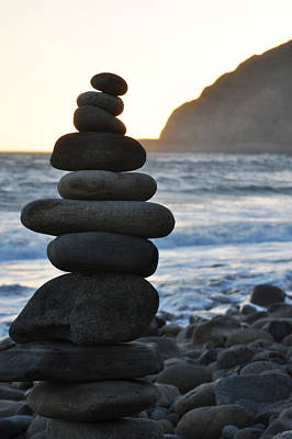 Art Print featuring the photograph Malibu Balanced Rocks by Kyle Hanson