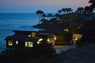 Photograph - Malibu Beach House - Evening by Tommi Trudeau