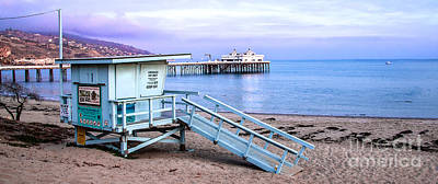 Photograph - Malibu Beach Lifeguard Tower And Pier  by Jerry Cowart