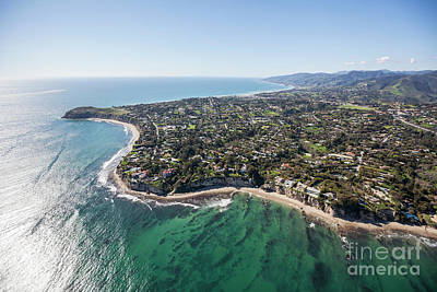 Point Dume Wall Art - Photograph - Malibu California Aerial by Trekkerimages Photography