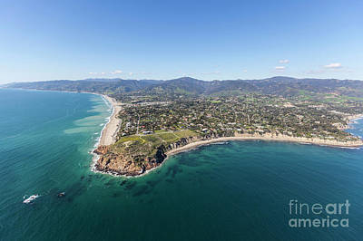 Point Dume Wall Art - Photograph - Malibu California Point Dume Shoreline Aerial by Trekkerimages Photography