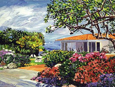 Malibu Painting -  Malibu Garden by David Lloyd Glover