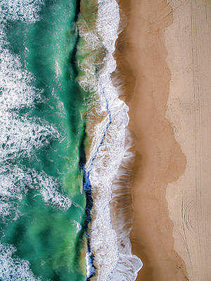 Abstract Beach Landscape Photograph - Malibu Half And Half by Peter Irwindale