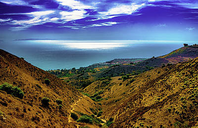 Photograph - Malibu Hills Ocean View by Joseph Hollingsworth