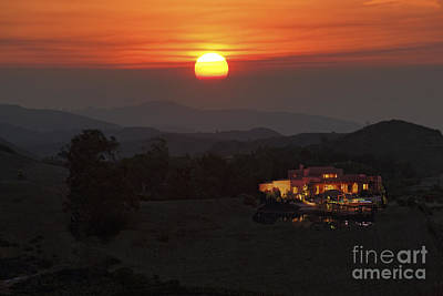 Photograph - Malibu Hills Sunrise by David Zanzinger