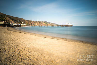Vintage Buick Rights Managed Images - Malibu Pier at Surfrider Beach in Southern California Royalty-Free Image by Paul Velgos