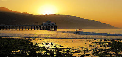 Beach Scenes Photograph - Malibu Rider by Ron Regalado