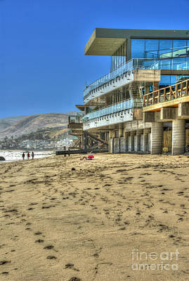 Photograph - Malibu Road Luxury Oceanfront, Beach House Vertical 2 by David Zanzinger