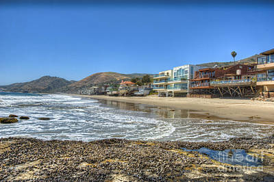 Photograph - Malibu Road Luxury Oceanfront, Beach Houses Raised Pilings 3 by David Zanzinger