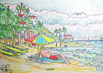 Malibu Art Print by Robert Findley