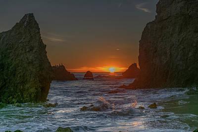 Photograph - Malibu Sunset #1 by Jack Peterson